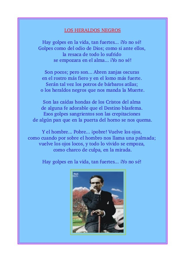 Cesar Vallejo hay golpes