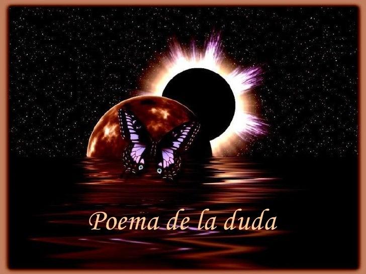 Poema de la duda