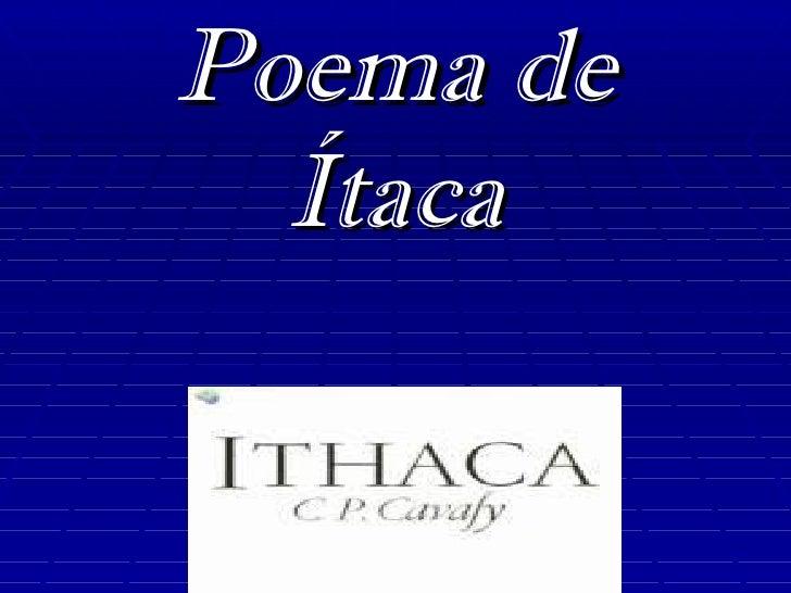Poema de  Ítaca