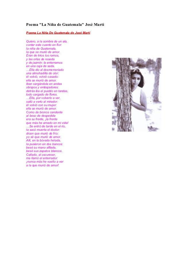 Poema quot la ni 241 a de guatemala quot jos 232 mart 236