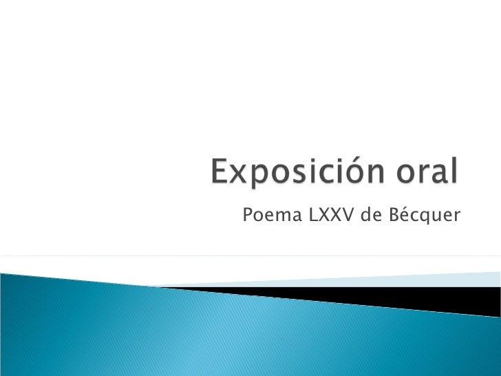 Poema LXXV de Bécquer