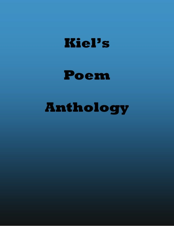 Kiel's Poem anthology