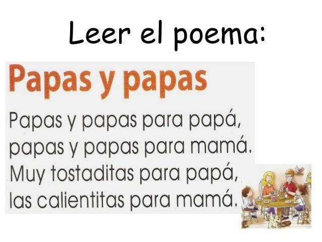 Poema papas y papas actividades