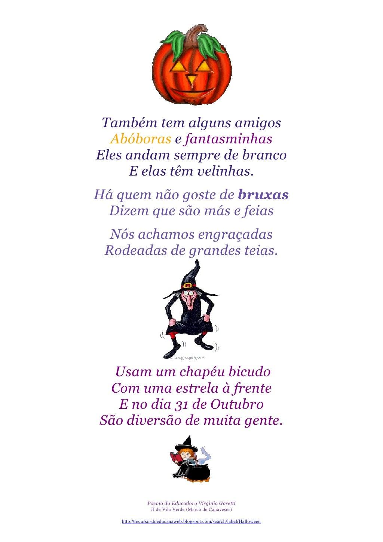 Poema para o dia das bruxas