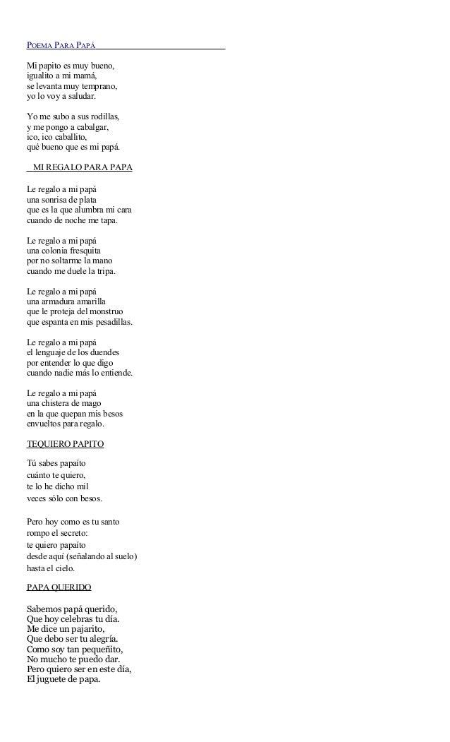 Poema para pap - Que le regalo a mi papa ...