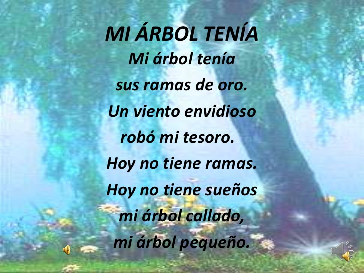 Poesia sobre el arbol - Imagui