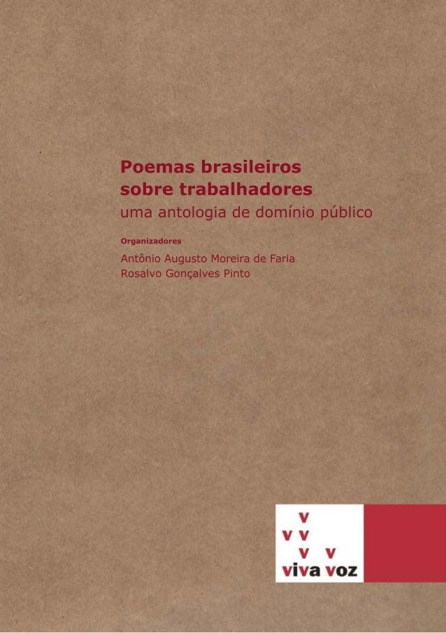 Poemas brasileiros sobre trabalhadores: uma antologia de domínio público