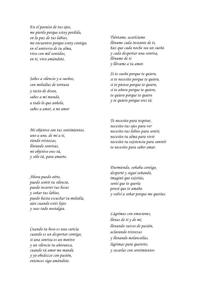 poemas de cariño