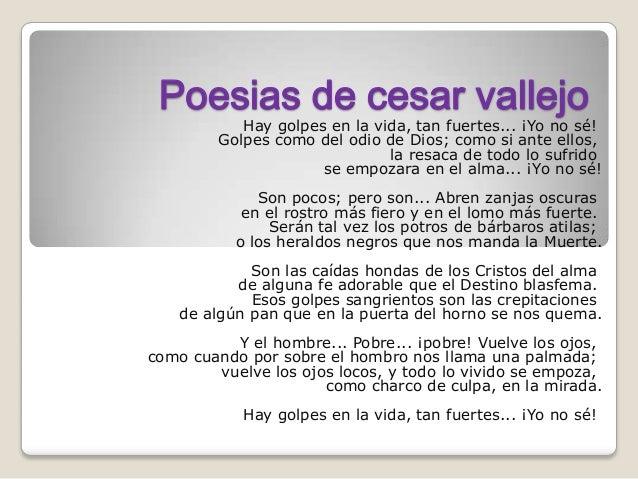 Cesar Vallejo golpes en la vida