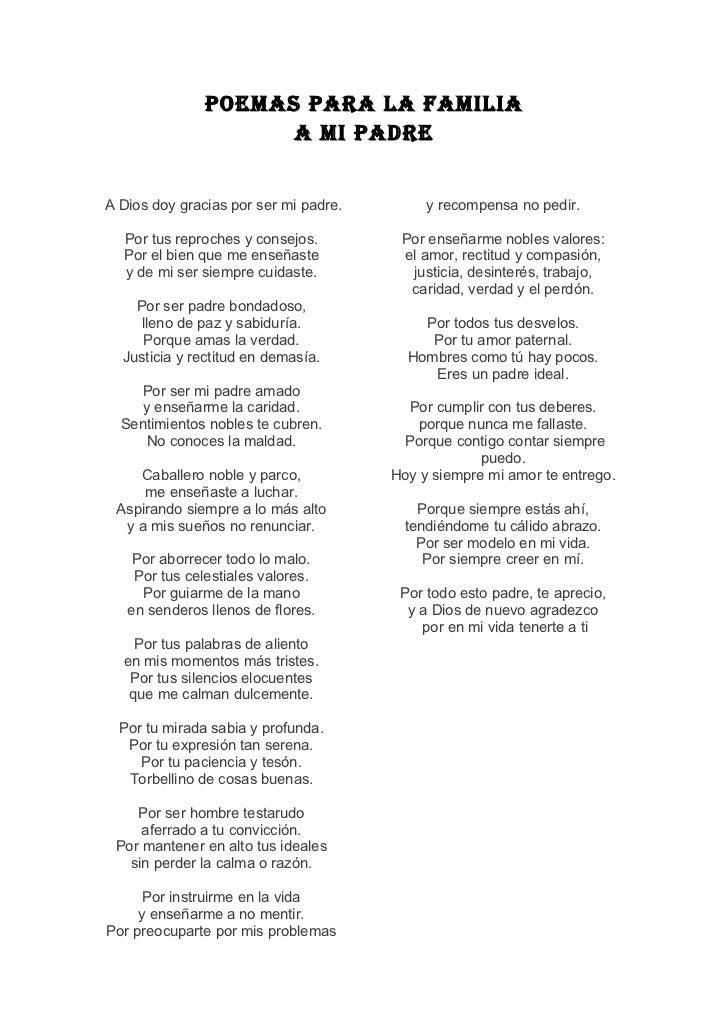poemas de familia