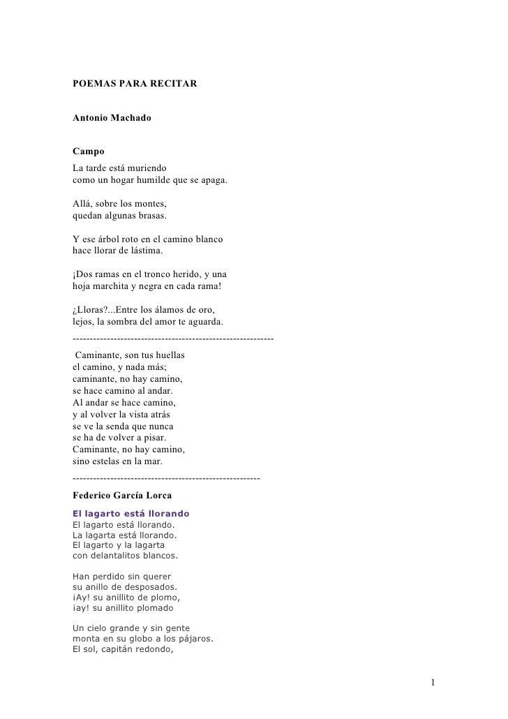 Poemas Para Ninos De Mexico