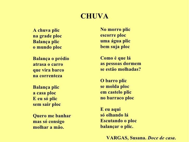 Poemas Pra CriançAs Cantando Na Chuva