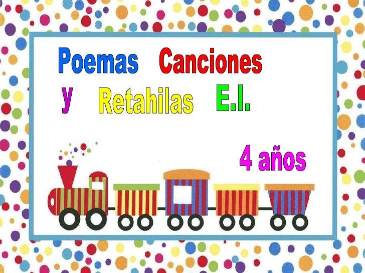 Poemas Canciones y Retahilas E.I. 4 años