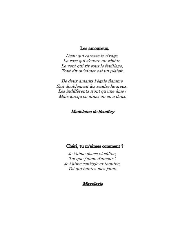 Petit poeme rencontre amoureuse