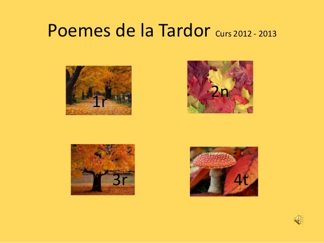 Poemes tardor