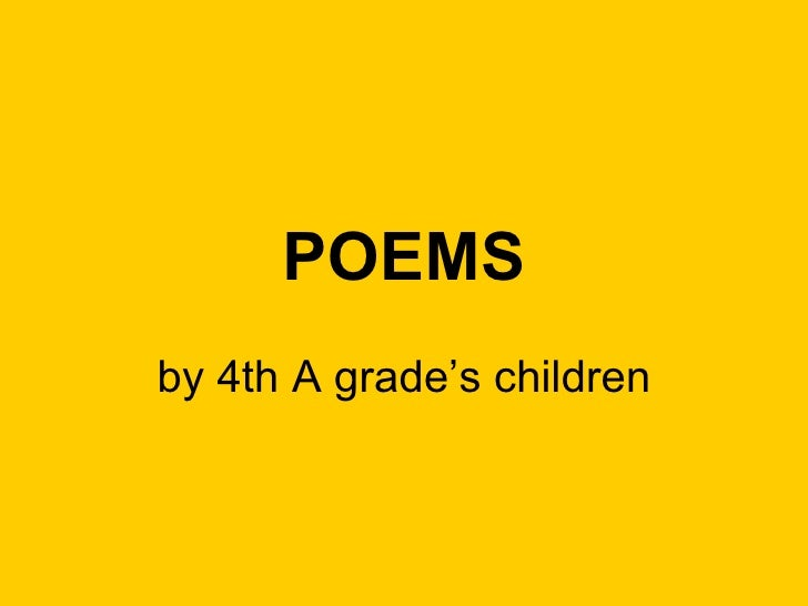 Poems 4th a group