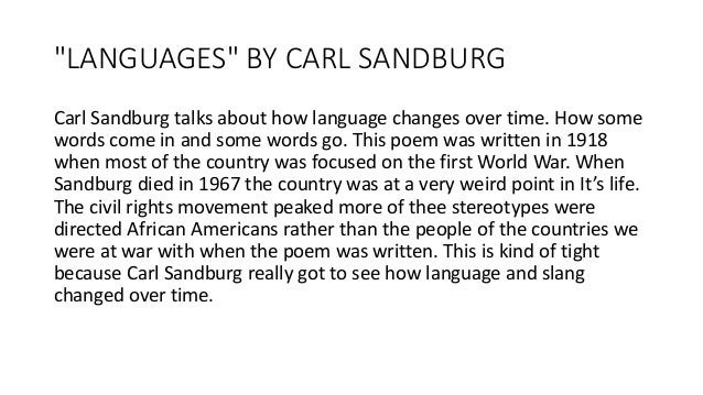 an analysis of the poem jaws by carl sandburg