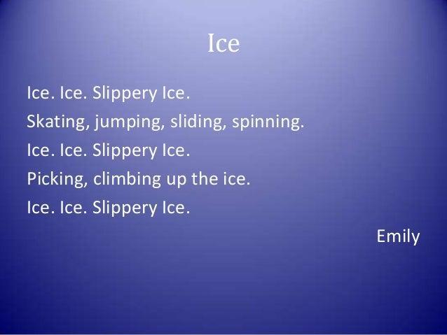 Ice Skating Poem Ice Slippery Ice Skating