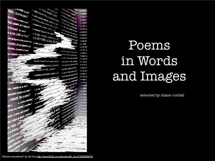 Poems in words and images