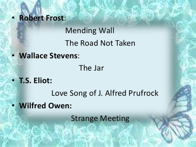 a comparison of robert frosts mending wall and vening On robert frost's poem mending wall and kirsten greenidge's play the luck of the irish.