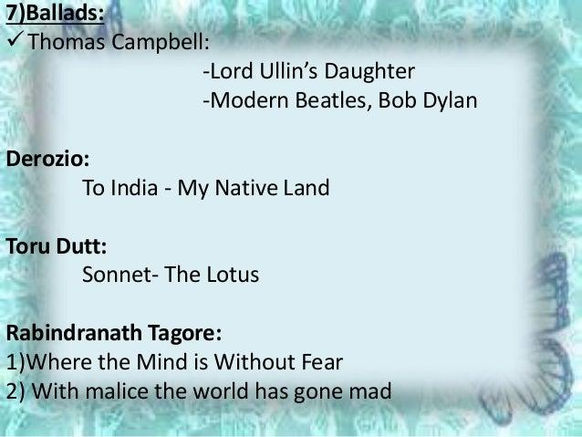 derozio's sonnets Lays foundation of arbindonean sonnets in indian english literature next to  henry louis vivian derozio, r n tagore, aurobindo, sarojini naidu, nissim.
