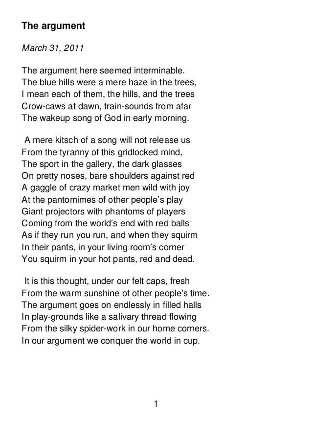 Poems written in 2011