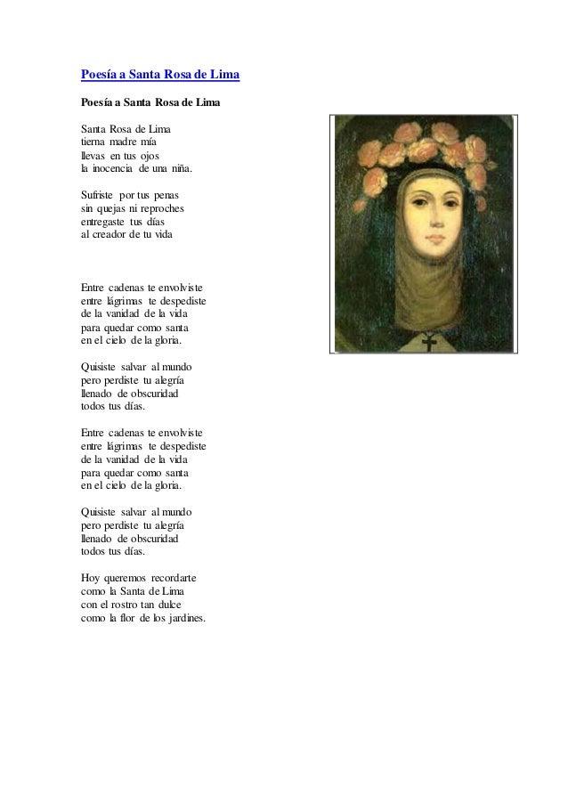 Poesía a Santa Rosa de LimaPoesía a Santa Rosa de LimaSanta Rosa de