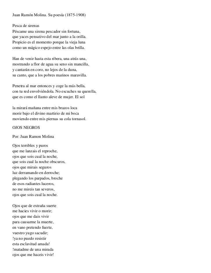 Juan Ramón Molina. Su poesía (1875-1908) Pesca de sirenasPéscame una sirena pescador sin fortuna,que yaces pensativo del m...