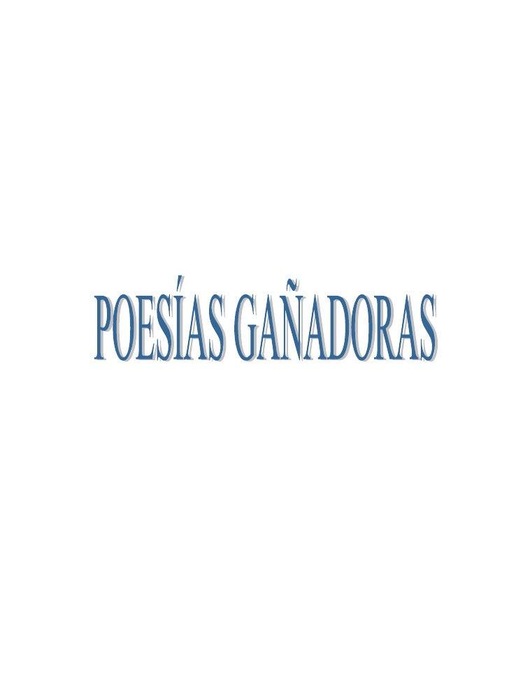 POESÍAS GAÑADORAS