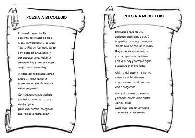 Poemas Infantiles De La Escuela