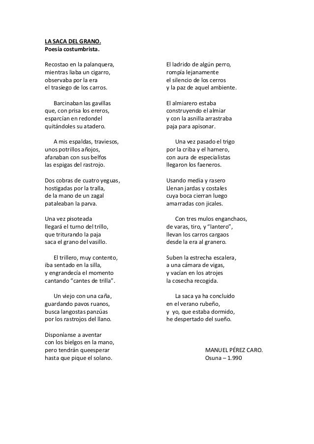 Poesia costumbrista