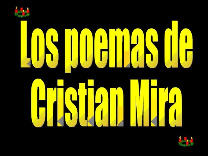 Los poemas de  Cristian Mira