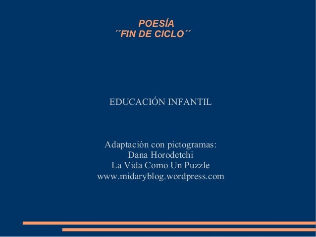 Poesias De Fin De Curso Escolar De Preescolar