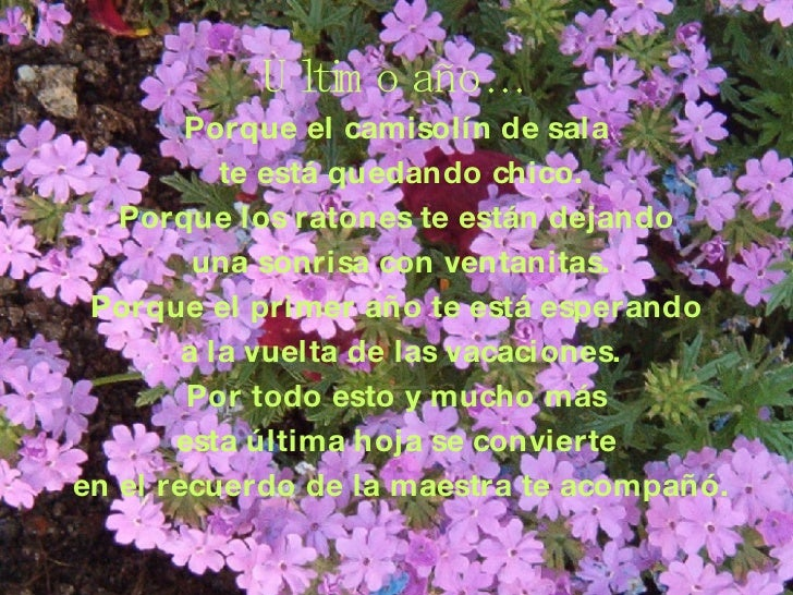 Poesias Fin De Curso
