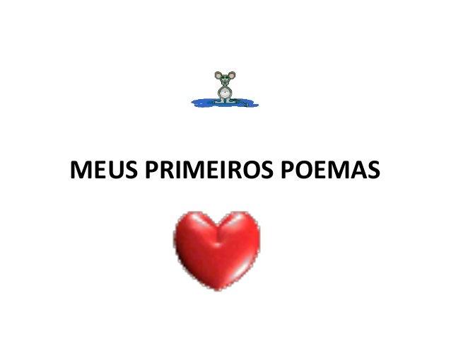 MEUS PRIMEIROS POEMAS