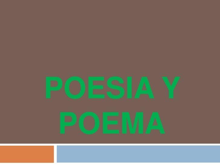 Poesia y poema