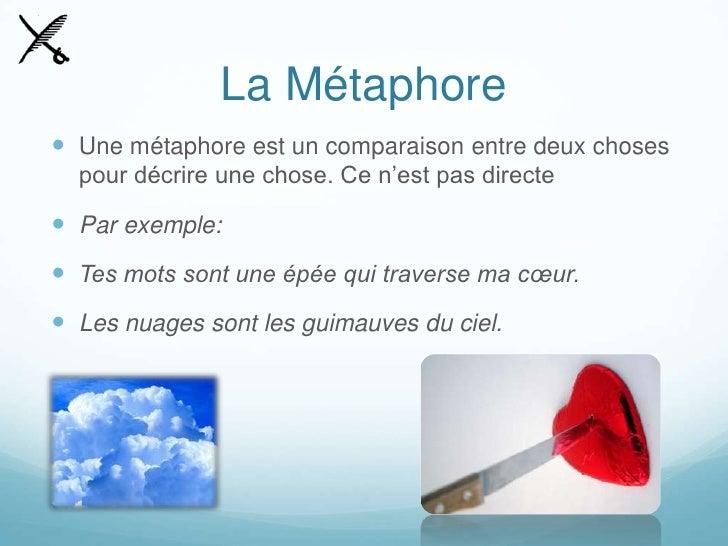exemple de metaphore et comparaison