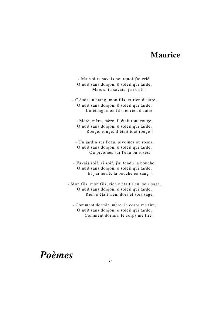 Poesie incertain regard for Jean d ormesson si tu savais najat