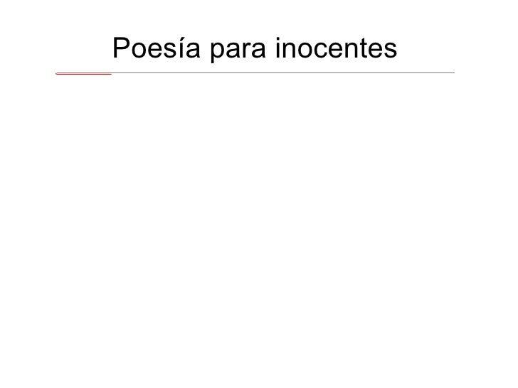 Poesía para inocentes