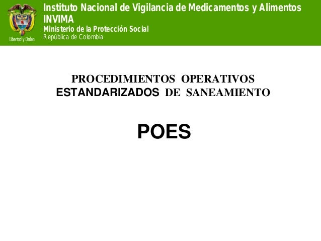 Instituto Nacional de Vigilancia de Medicamentos y Alimentos  INVIMA  Ministerio de la Protección Social  República de Col...