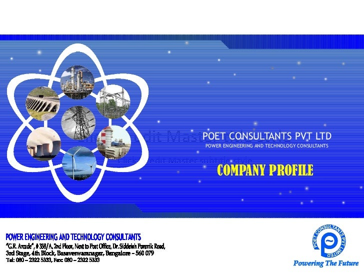 Click to edit Master title style PVT LTD                  POET CONSULTANTS                            POWER ENGINEERING AN...