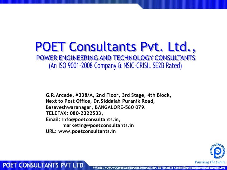 poet consultants pvt ltd