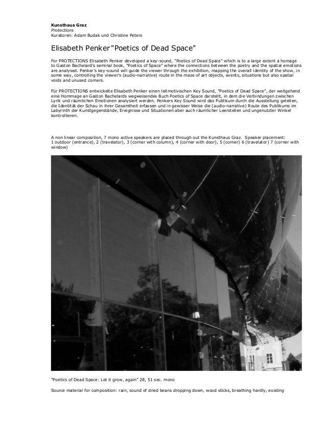 "Kunsthaus GrazProtectionsKuratoren: Adam Budak und Christine PetersElisabeth Penker ""Poetics of Dead Space""For PROTECTIONS..."