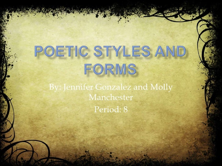 Poetic styles and forms