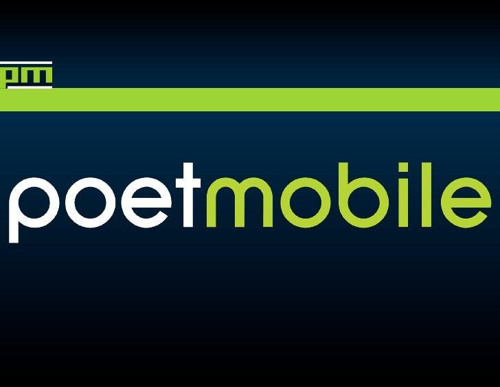 Poet Mobile Presentation 6 21 St