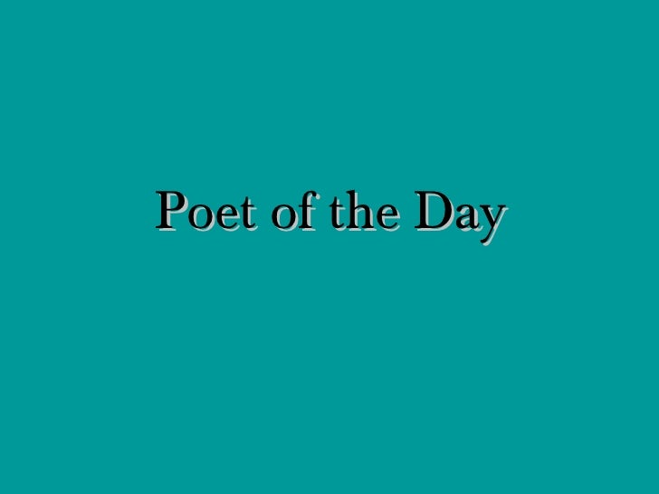 Poet of the Day