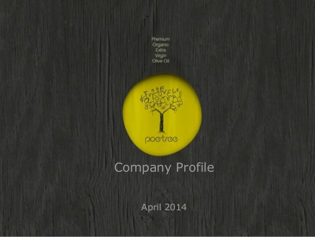 Poetree company presentation 2014