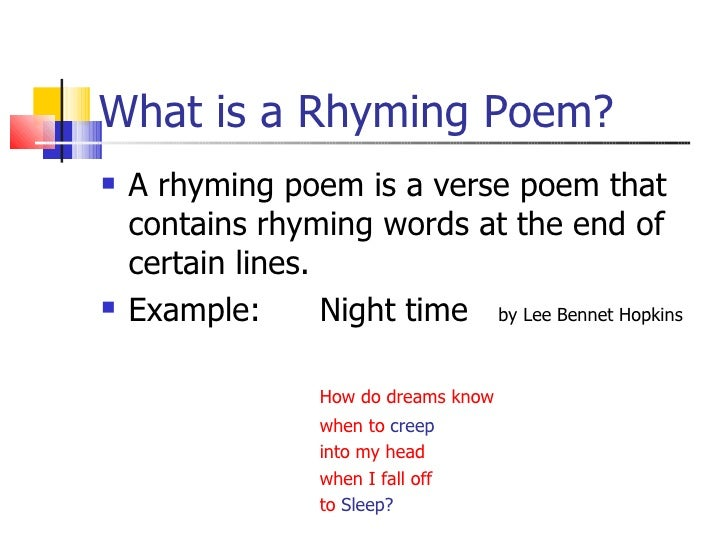 How to write a short rhyming poem