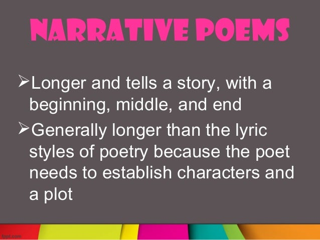 how to write a narrative poem high school