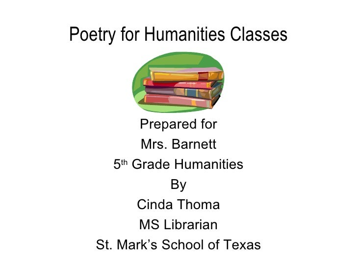 Poetry for Humanities - 5th Grade Humanities